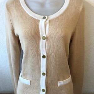 H&M Women's Blouse Long Sleeve Color Tan Size S